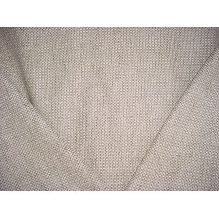 12H4 - Antique White / Taupe Small-Scale Check / Basketweave Designer Upholstery Drapery Fabric - By the - Drapery Fabric By The Yard