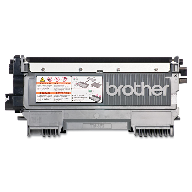 Brother Genuine TN450 High-Yield Toner Cartridge, Black