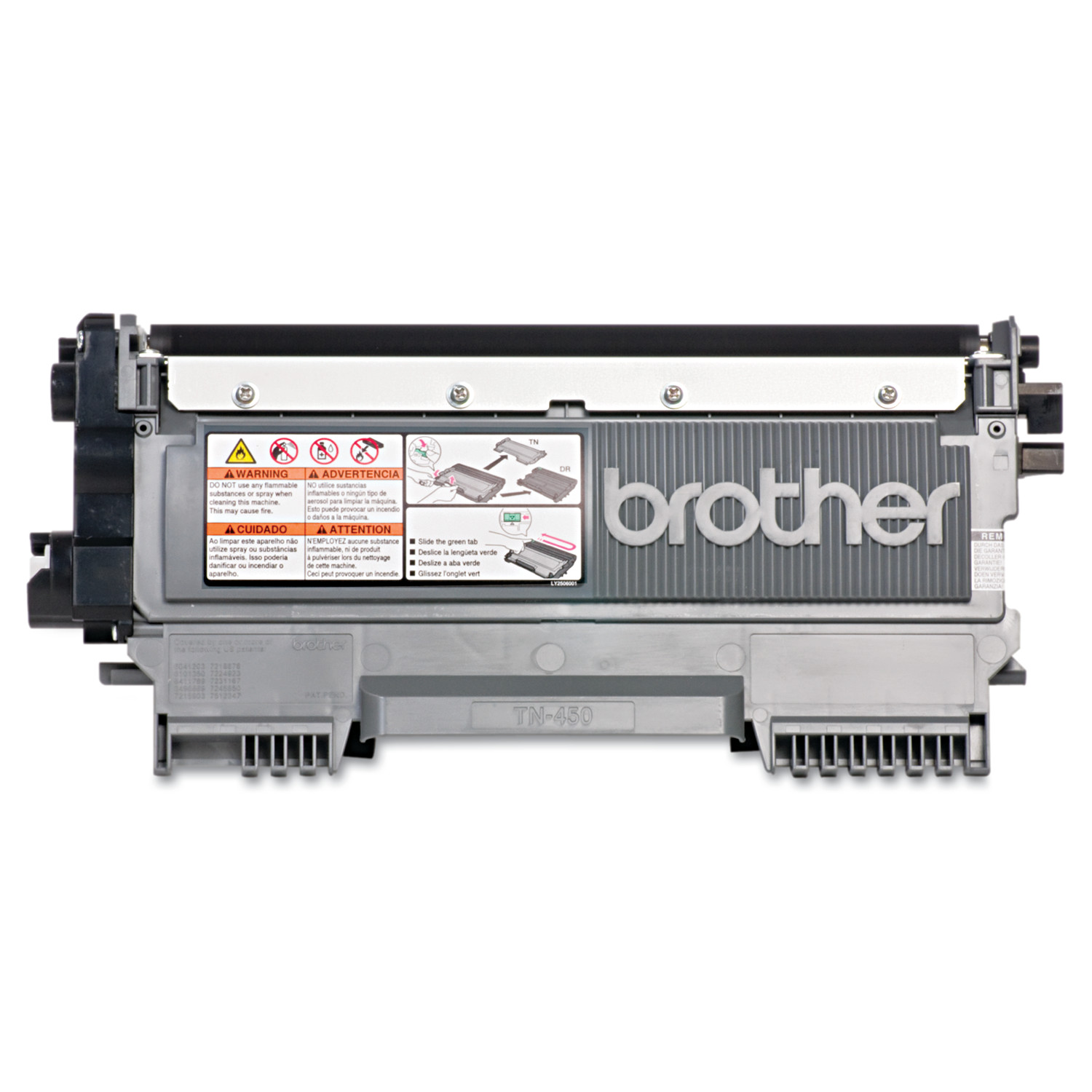Brother Genuine TN450 High-Yield Toner Cartridge, Black
