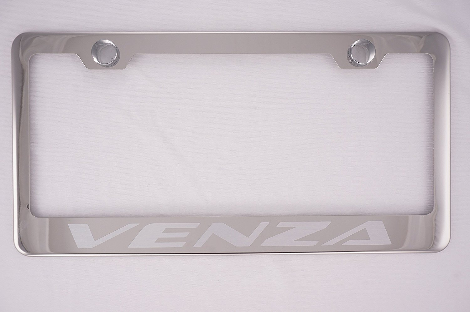 VENZA Toyota Stainless Steel License Plate Frame Rust Free W// Bolt Cap