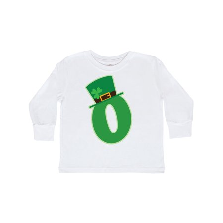 Irish St Patricks Day Letter O Monogram Toddler Long Sleeve T-Shirt Monogrammed Childrens Clothing