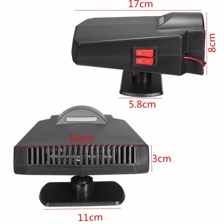 Universal 2 IN1 PTC 300W 12V 15A Vehicle 2-in-1 Car Heater & Cooler Fan Hot Switch Windscreen Defroster Demister Vehicle Auto Overheat Protect Cigarette Lighter - image 12 of 14