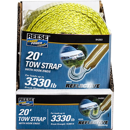 Reese Carry Power Tow Strap with Hook