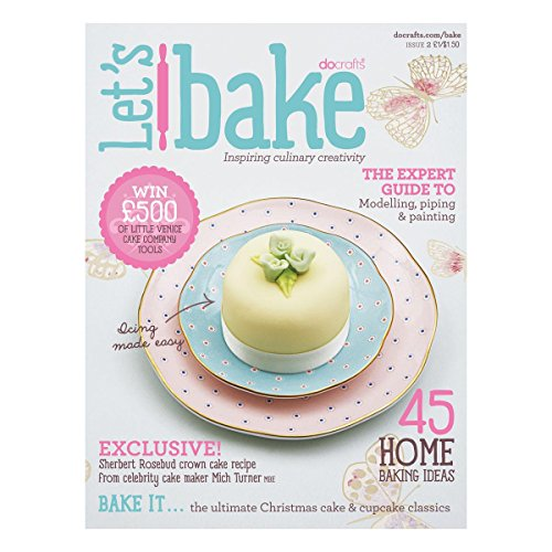 Docrafts Little Venice Cake Company Culinary Booklet-Lets Bake Multi-Colored