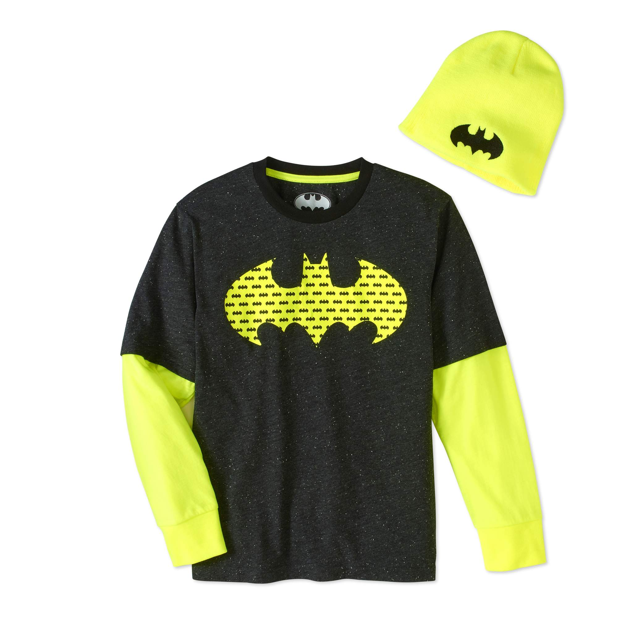 Batman Boys' Twofer Beanie Combo by