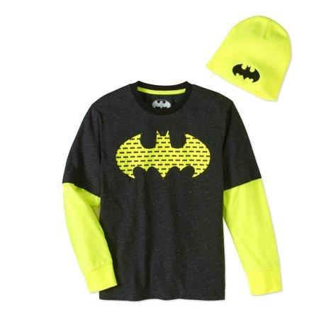 Batman Boys Twofer Beanie Combo