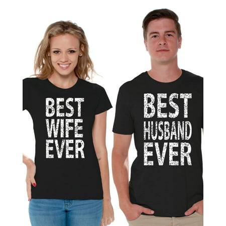 Awkward Styles Husband Wife Matching Couple Shirts Couple Matching Best Husband Ever Shirt Best Wife Ever Shirt Valentines Gift for Couples Wife and Husband Cute Couple Shirts Couple Anniversary