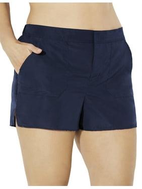 Swimsuits For All Women's Plus Size Cargo Short Swim Bottom