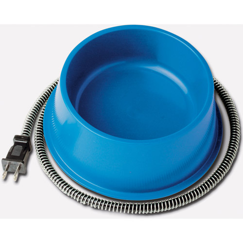 Farm Innovators Heated Pet Bowl, 1 Quart, Blue