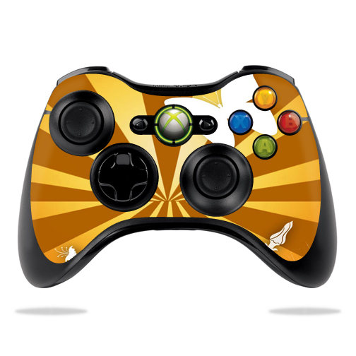 Protective Vinyl Skin Decal Cover for Microsoft Xbox 360 Controller wrap sticker skins Brown Butterfly