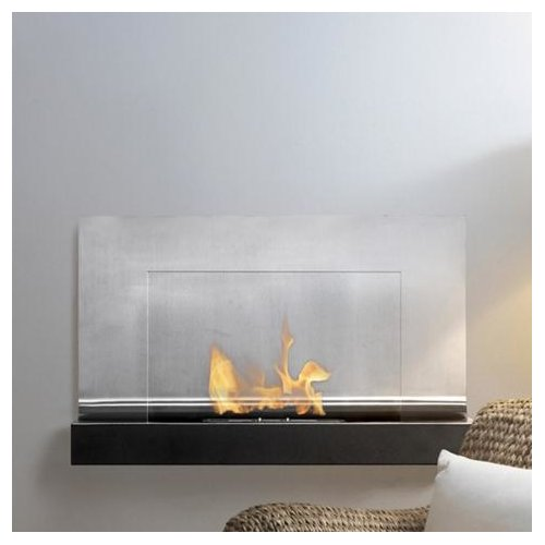 Ignis Products Ferrum Wall Mounted Ethanol Fireplace Walmart Com