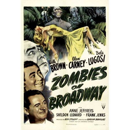 Halloween Rob Zombie Movie Poster (Zombies on Broadway Movie Poster (11 x)