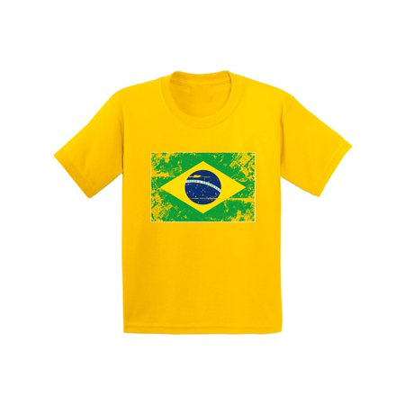 Soccer Kids Shirt (Awkward Styles Brazil Flag Youth Shirt Flag of Brazil Brazilian Youth Brazilian Kids Shirt Kids Brazil Soccer Tshirt Soccer Gifts for Boys Brazil Shirt for Girls Brazilian Soccer 2018)