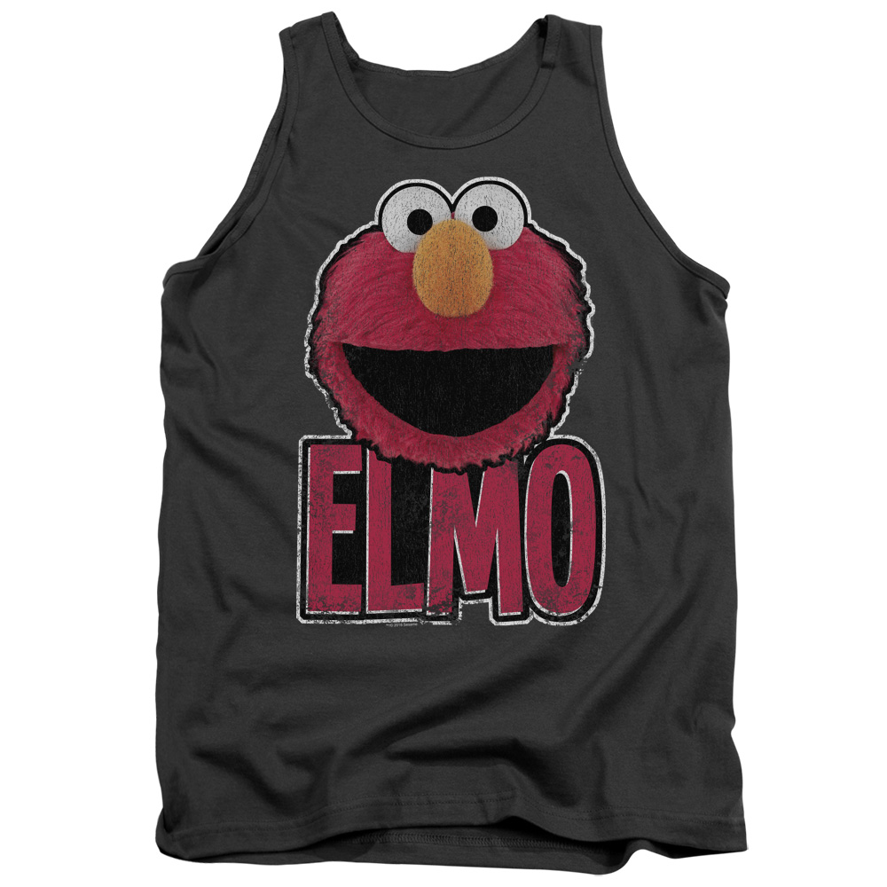 Sesame Street Classic Children's TV Show Elmo Smile Adult Tank Top Shirt by Trevco