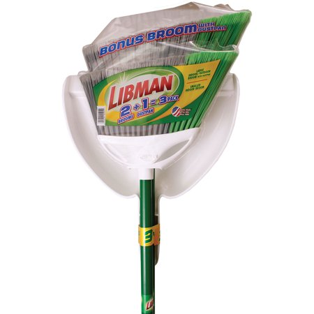 Libman 3 Pack 2 Angle brooms With 1 Dustpan