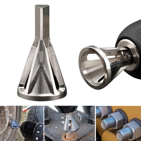 Stainless Steel Deburring External Chamfer Tool Drill Bit Remove Burr Silver ()