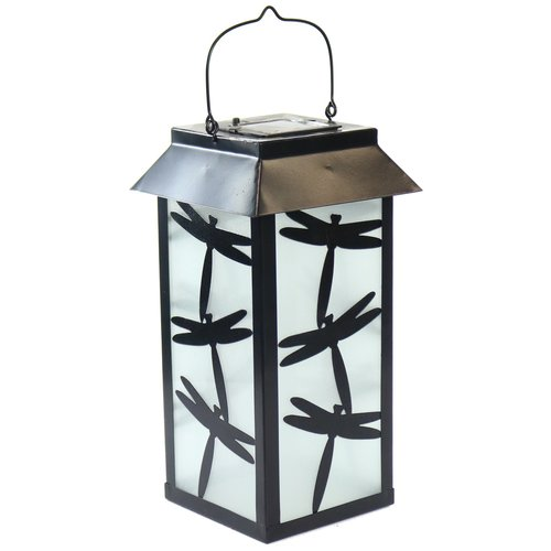 August Grove Solar Metal Lantern