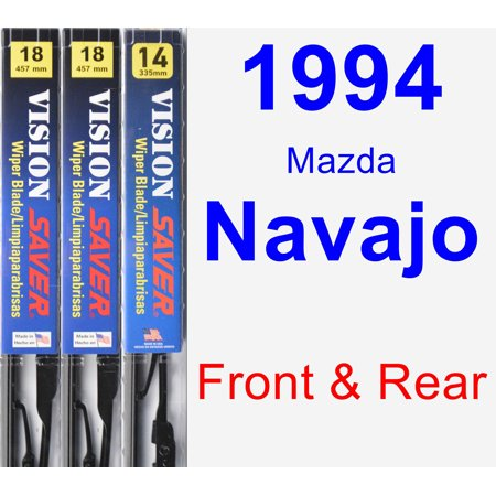 - 1994 Mazda Navajo Wiper Blade Set/Kit (Front & Rear) (3 Blades) - Vision Saver