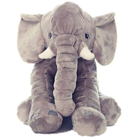 Gray Soft Toy (Large Stuffed Animal Soft Cushion Grey Elephant Plush Pillow Toy for)