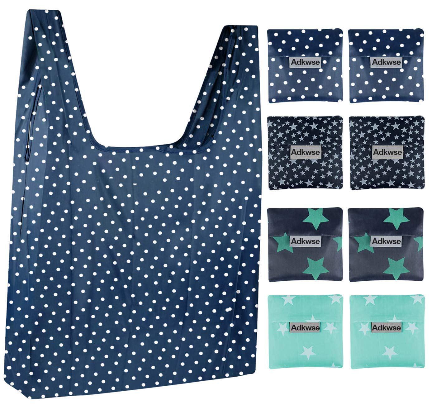 Designer Inspired Convertible Foldable Nylon Shopping Tote Bag