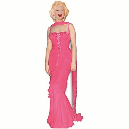 Star Cutouts SC272 Marilyn Monroe Pink Evening Gown Cardboard Stand Ups