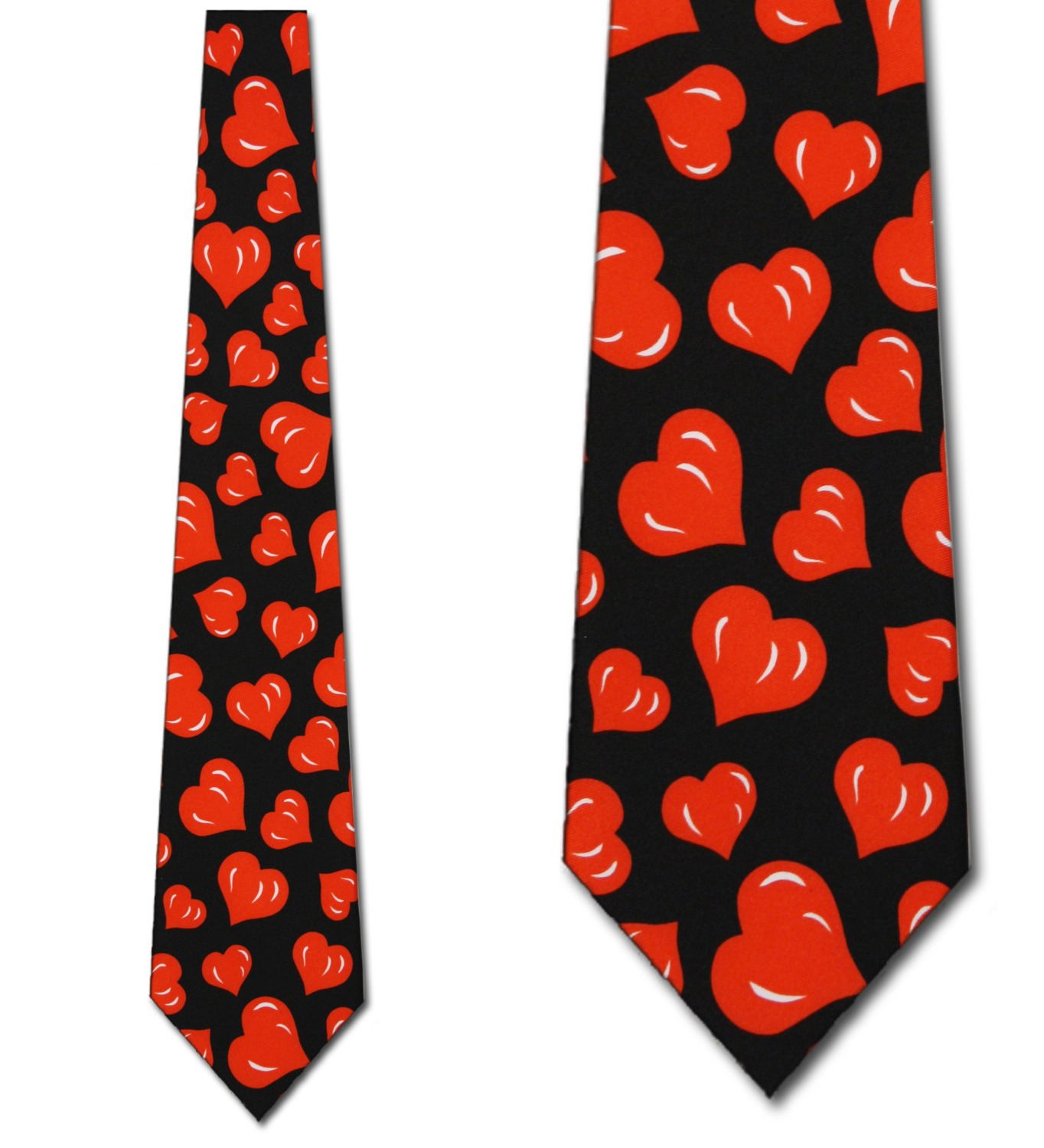 Hearts Allover (Black) Necktie Mens Tie