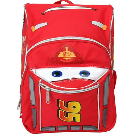 Cars Mini Backpack (Mini Backpack - Disney - Cars McQueen Red/Silver Face New 001544)