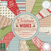 Trimcraft FEPAD099 First Edition Premium Paper Pad 8 x 8 inch 4 - Christmas Wishes