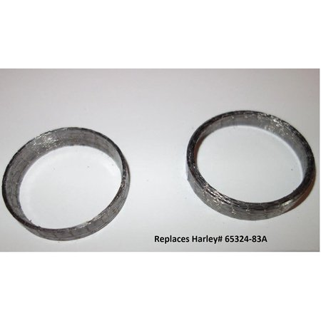 Tapered Exhaust Gaskets Pair (2) For Harley repl.OEM# 65324-83A, Designed to work with the 1984-2016 Big Twin models new spherical exhaust port; will also work on earlier.., By Orange Cycle Parts