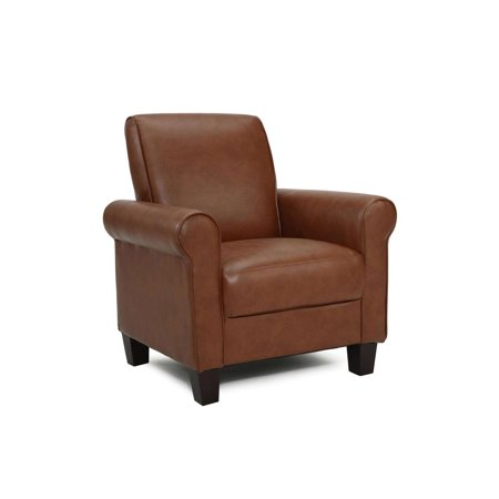 Dhi Rollx Arm Accent Chair Faux Leather Multiple Colors