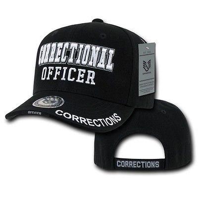 Black Correctional Officer Detention Corrections Police Baseball Ball Cap Hat Police Ball Cap
