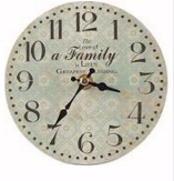 "Clock-Family-Blue (Approx 5.75"" Round) (Pack Of 4)"