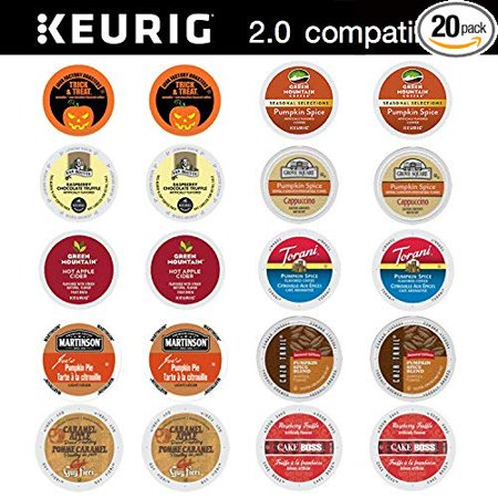 20 Count Ultimate Fall Halloween K Cup Pack for Keurig Single Serve Cup Brewers - Pumpkin Marshmallow and More](Dipped Marshmallows Halloween)