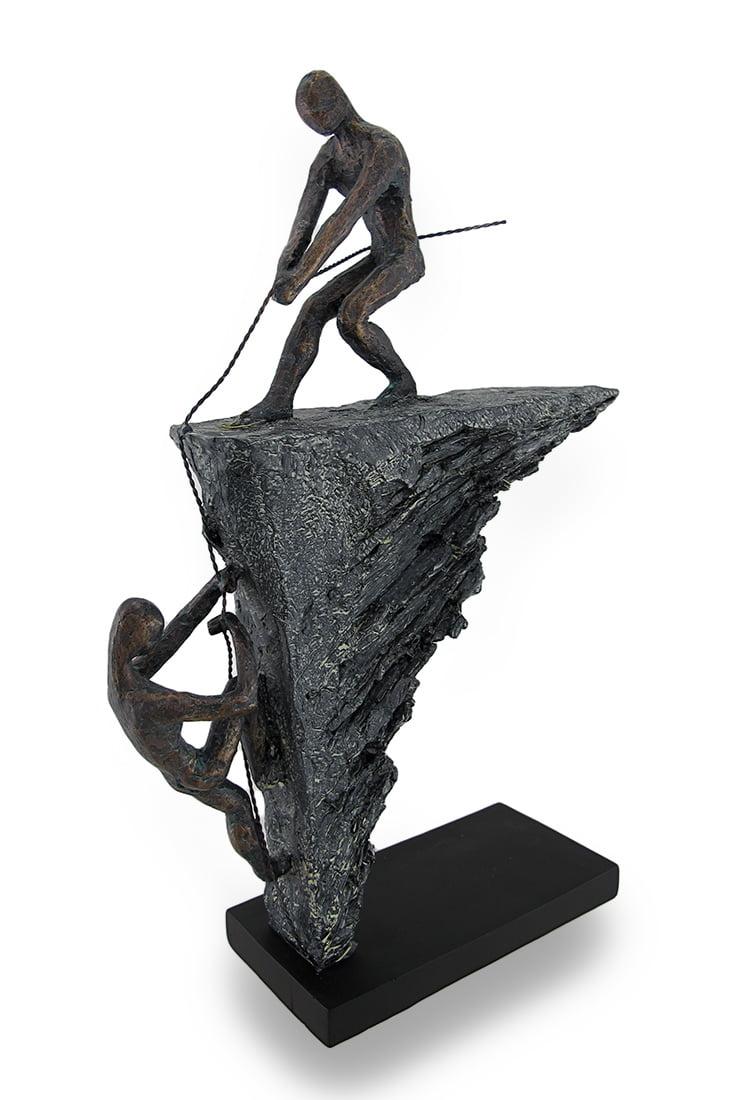 Abstract Polystone Rock Climbing Sculpture 16 In. by UMA Enterprises Inc.