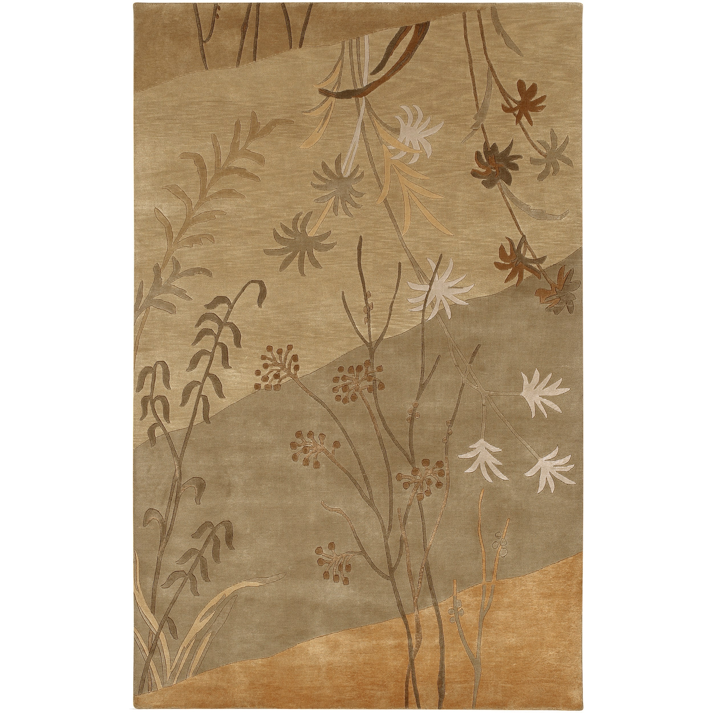 Hand-knotted Westerndown Tan New Zealand Wool Rug (9' x 13')