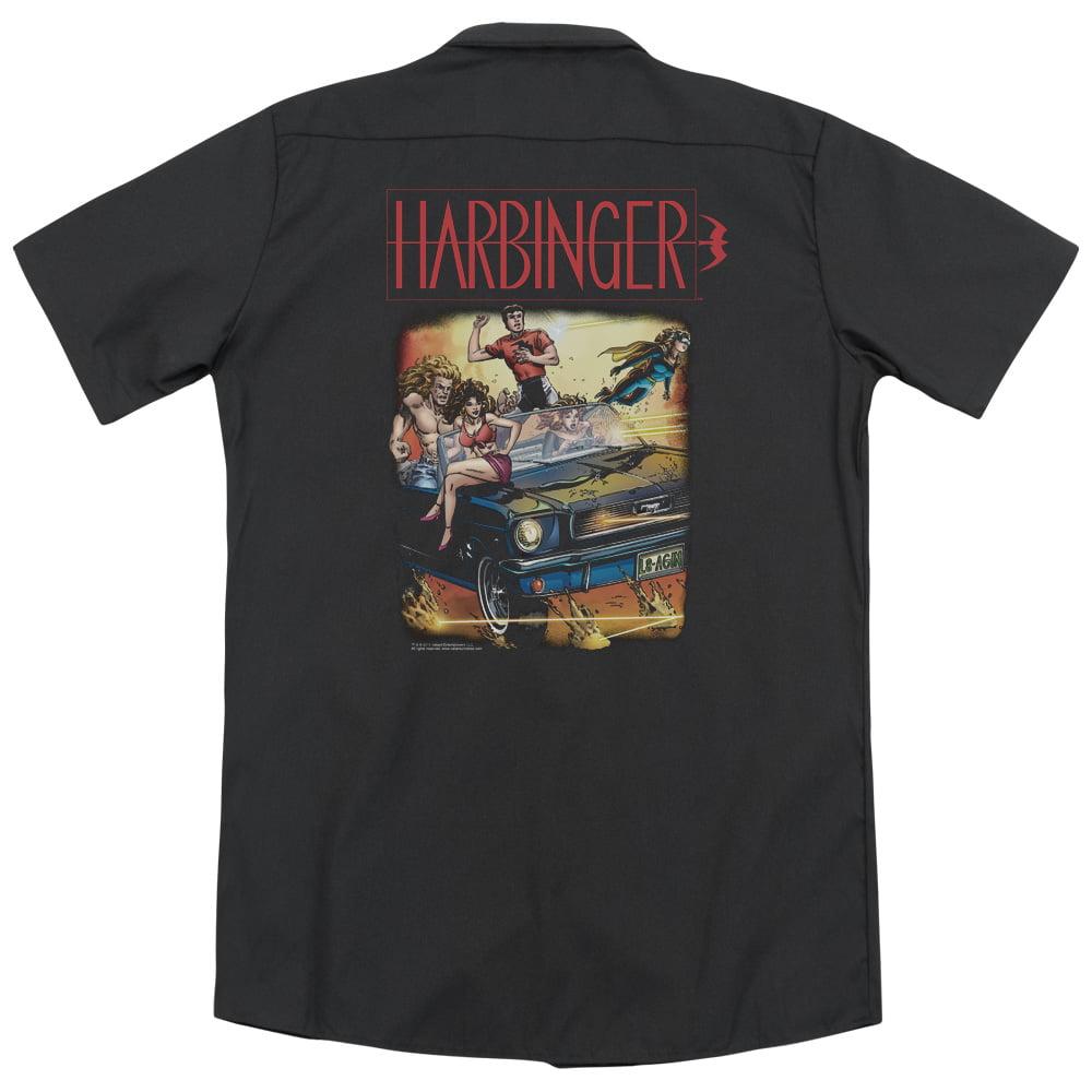 Trevco Harbinger Vintage Harbinger (Back Print) Mens Work...