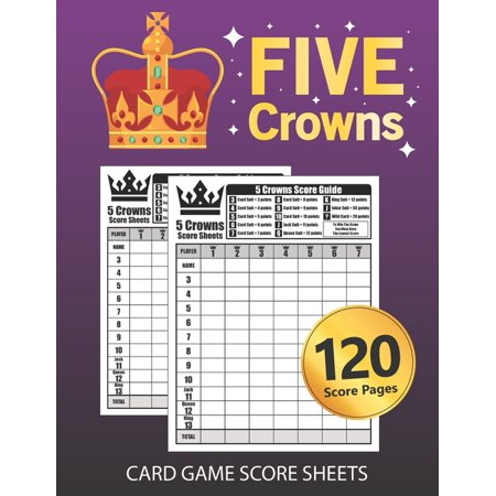 Halloween 4 Score (Five Crowns Card Game Score Sheets: Large Size Personal Score Sheets Five Crowns Score Book)