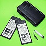 New 2x 4900mAh Extended Slim Standard Battery External Do...