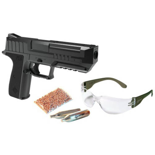 Crosman P15B Full Metal Blowback .177 Caliber Semi-Auto CO2 Air Pistol KIt, 475fps