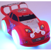 TECHEGE Red Bump n Go Race Car Toys for Toddler Boys, Kids with Lights, Music, Moves - 1 to 6 Years