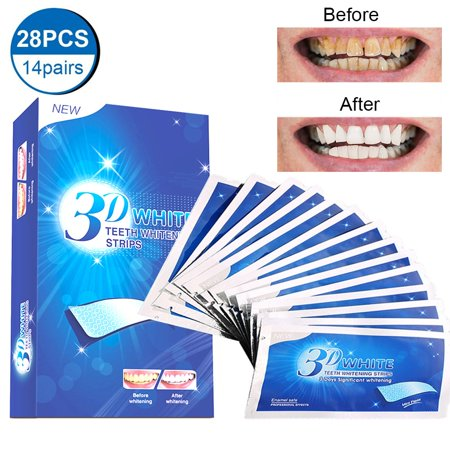 28 PCS 3D Instant Teeth Whitening Strips,XPREEN Teeth Whitener Strips Teeth Whitening Kit for Removing Dirt,Fast Tooth Whitening with No Sensitivity,Teeth Bleaching No Need for Powder or (Take Home Teeth Whitening Kit From Dentist)