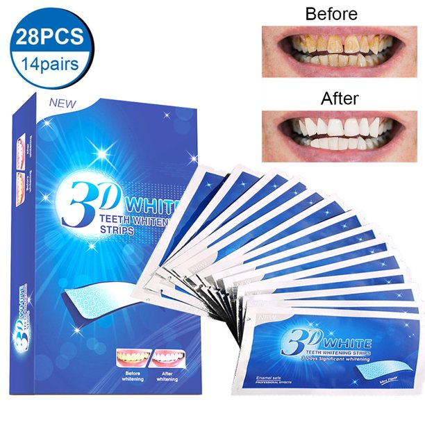 28 Pcs 3d Instant Teeth Whitening Strips Xpreen Teeth Whitener Strips Teeth Whitening Kit For Removing Dirt Fast Tooth Whitening With No Sensitivity Teeth Bleaching No Need For Powder Or Gel Walmart Com Walmart Com