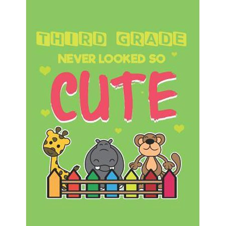 Third Grade Never Looked So Cute: Composition Notebook for 3rd Graders (Standard Size Wide Ruled Personalized Journal)