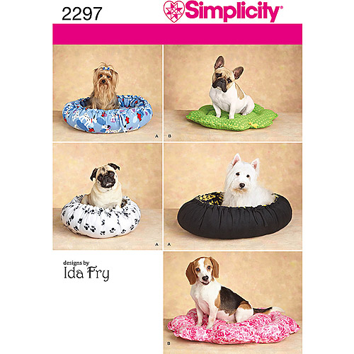 Simplicity Pattern Pet Beds, All Sizes