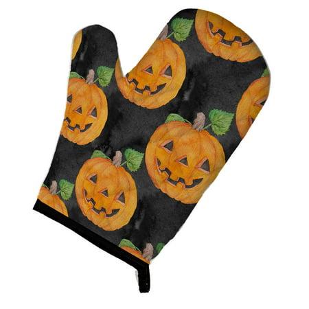 Caroline's Treasures Watecolor Halloween Jack-O-Lantern Oven Mitt
