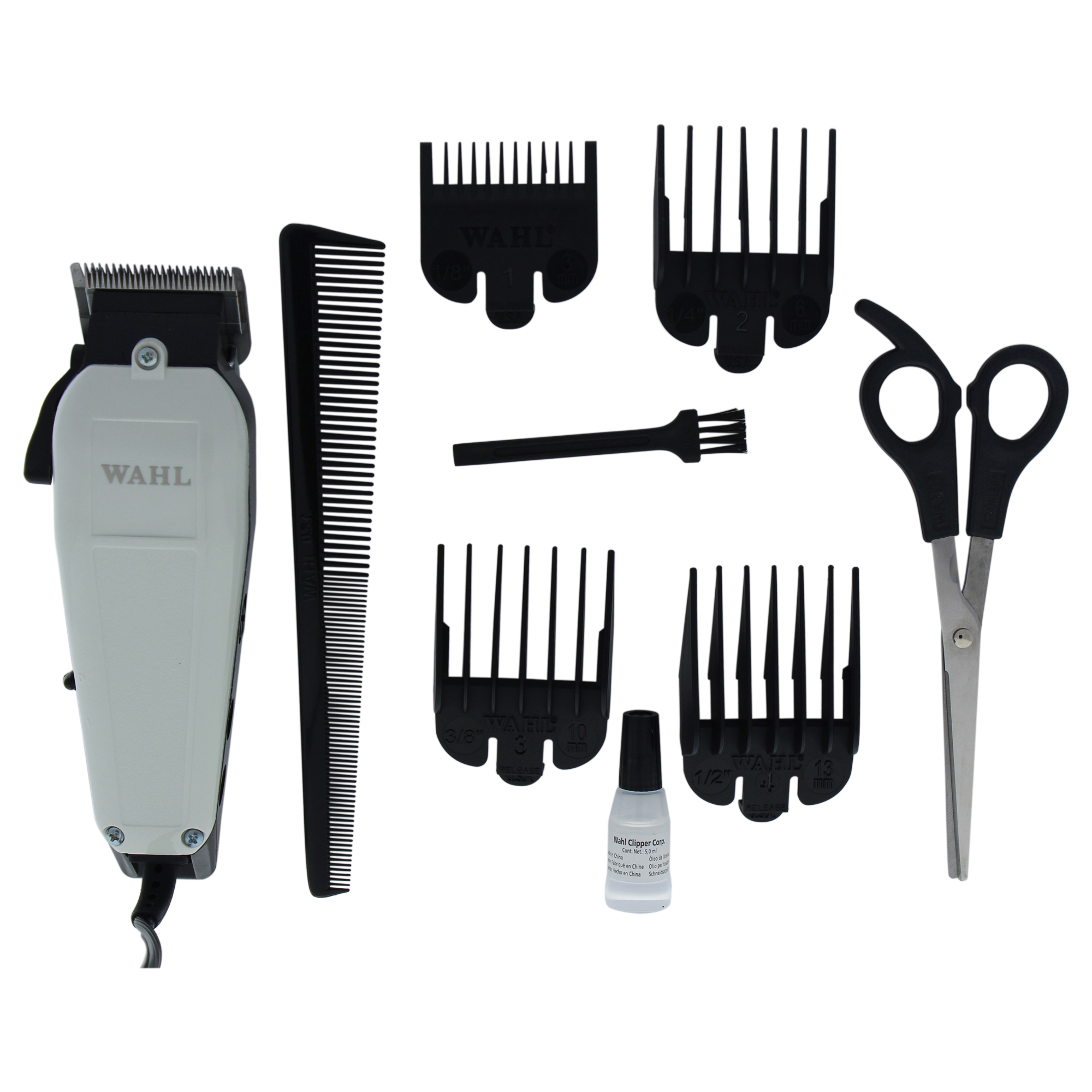 WAHL Professional Deluxe Home Haircut - Model # 8645-500 - White/Black - 1 Pc Kit Trimmer