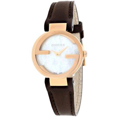 Gucci Women's Interlocking Watch Quartz Sapphire Crystal YA133516