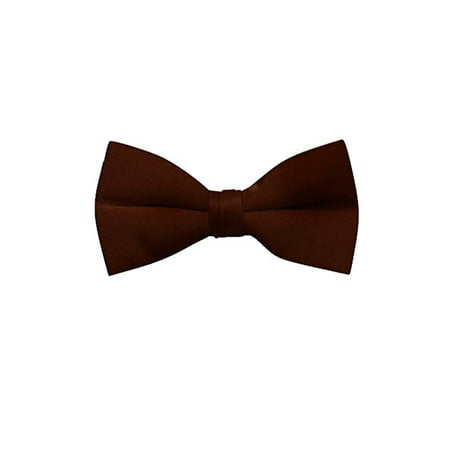 Men's Solid Color Clip On Bow Tie