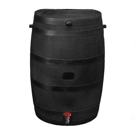 RTS Home Accents Flat Back Eco Rain Barrel,