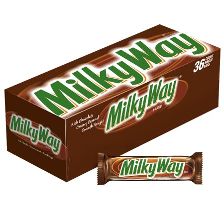 Milky Way Milk Chocolate, Singles Size Candy Bars, 1.84 Ounce, 36 Count](Retro Candy Store)